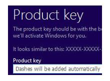 Windows 8 i ürün anahtarsız kurun