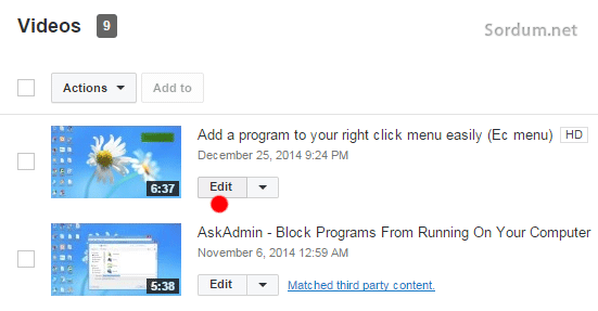 youtube videosunu editleme