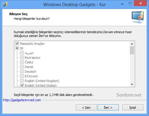 Win8.1 için ikinci kurulum ekrani