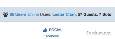 Online kişi sayısını gösteren eklenti