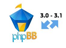 phpbb 3.0 dan 3.1 e güncelleme