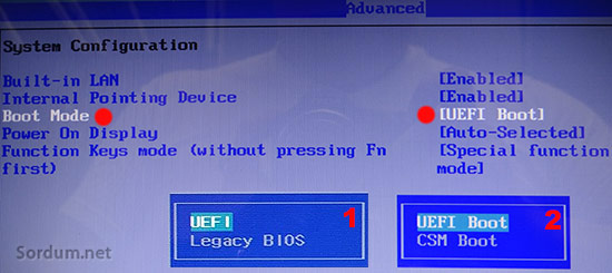 UEFI mi klasik bios mu nasıl anlarım