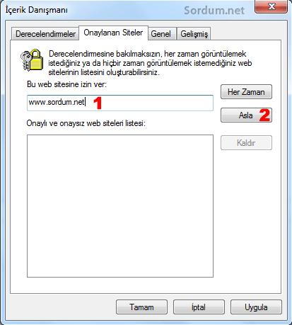İçerik danışmanı ile site yasaklama