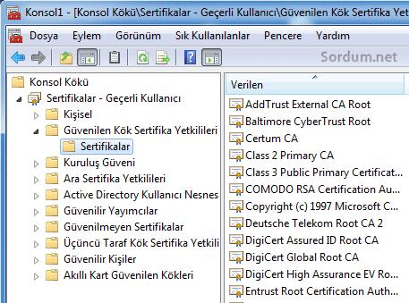 kok sertifikaları