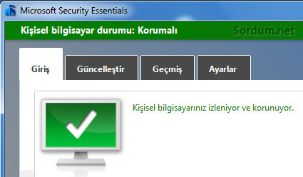 Microsoft Security Essentials kayboldu