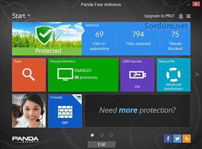 Panda Free antivirüs