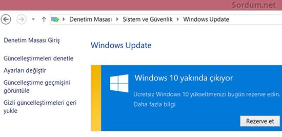 Windows 10 u satın al uyarısını kaldıralım