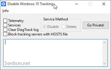 Disable windows10 tracking