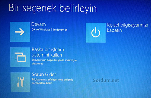 Windows 10 onarım modu