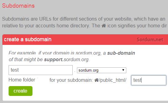 Cpanelden subdomain ismini belirleme