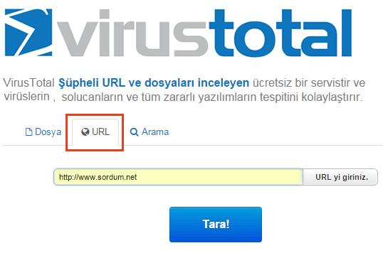 virustotal URL