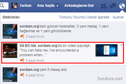 facebooktan programsız video indirme