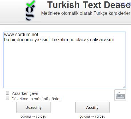 türkçe karakter çevirici