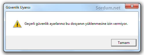 internet explorer ile download yapılamıyor