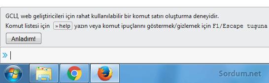 Firefox komut satırı