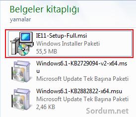 Özel internet explorer paketi