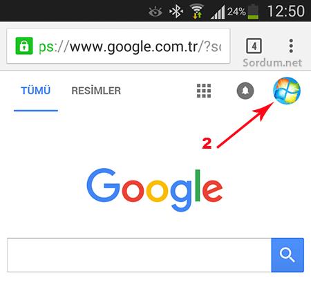 Gmail mobil hesaptan çıkış 2. adım