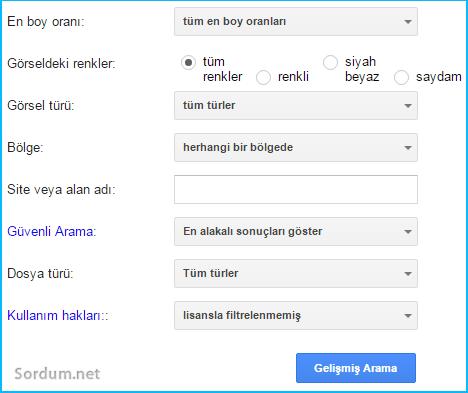 google gelişmiş arama