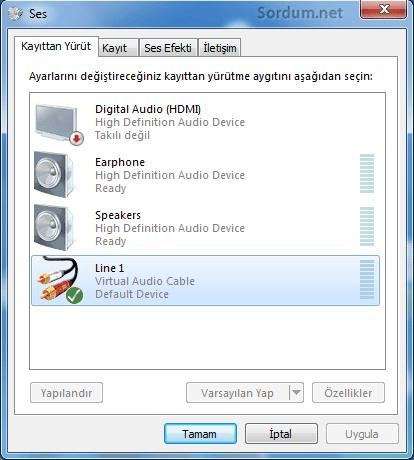 virtual audio cable default