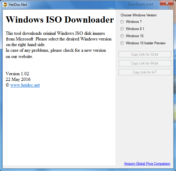 Windows ISO downloader