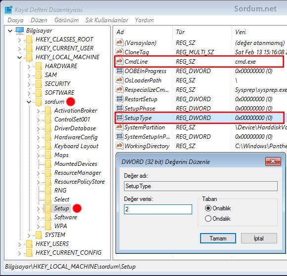 setup parametre değişkliği