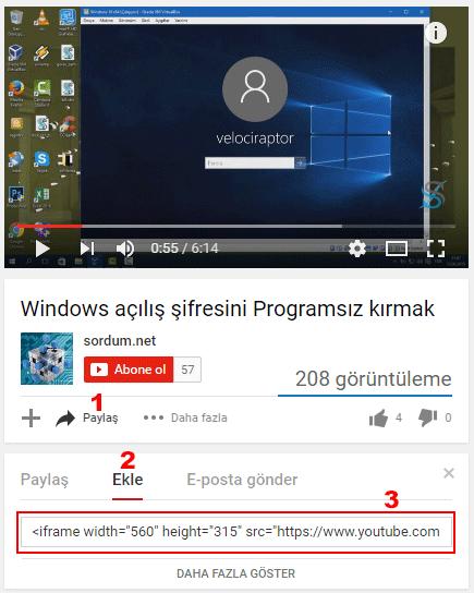 youtube paylaş