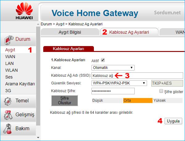 Kablosuz ağ ismi nasıl değiştirilir