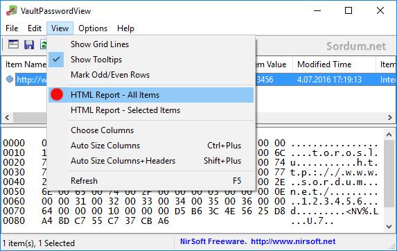 vaultpasswordview şifreleri dışa aktar