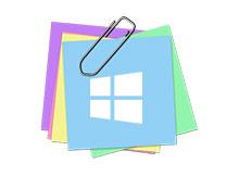 windows yapışkan notları silmeden gizlemek