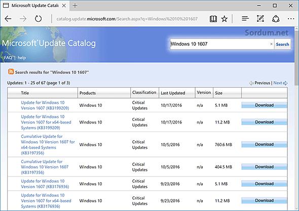 ms update katalog