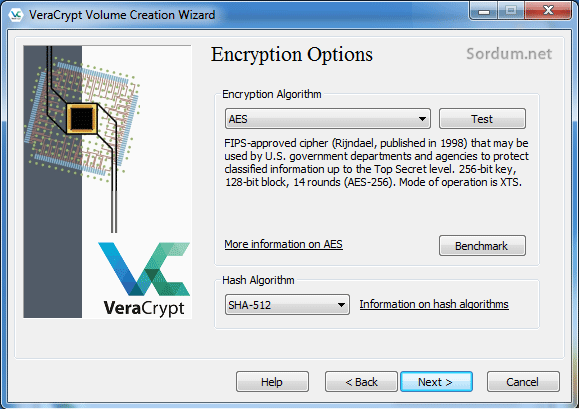Vera crypt şifreleme algoritması