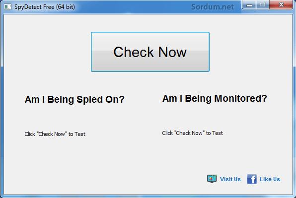 Spy detect ilk arayüz