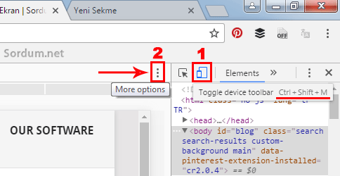 toggle device toolbar