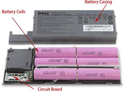 Lapotop batarya hücreleri