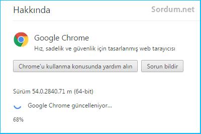 Chrome guncelleniyor