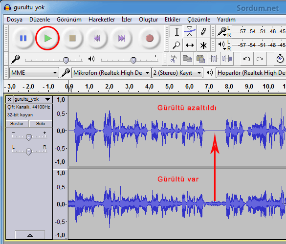 Gürültü karşılaştırma