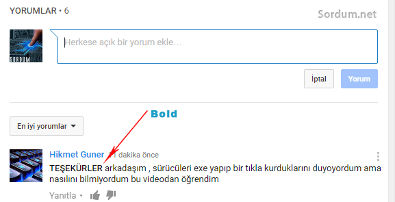 Youtube text karakteri