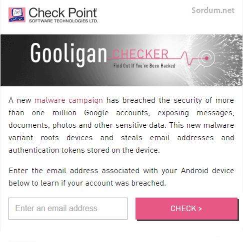 gooligan kontrolü