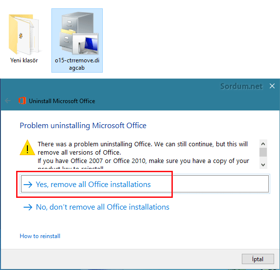 remove all office installation
