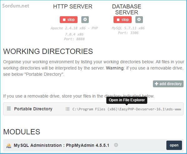 Easy php dizinleri açma