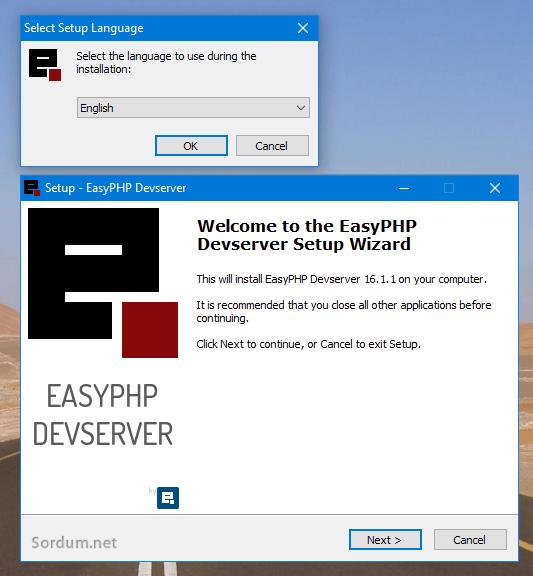 easy php kurulum adımları