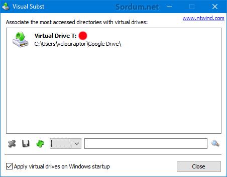 google drive dizin olarak eklendi