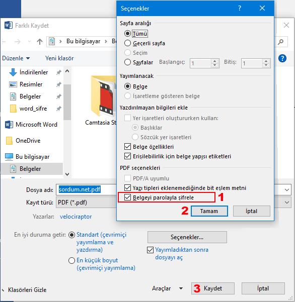 pdf şifresi
