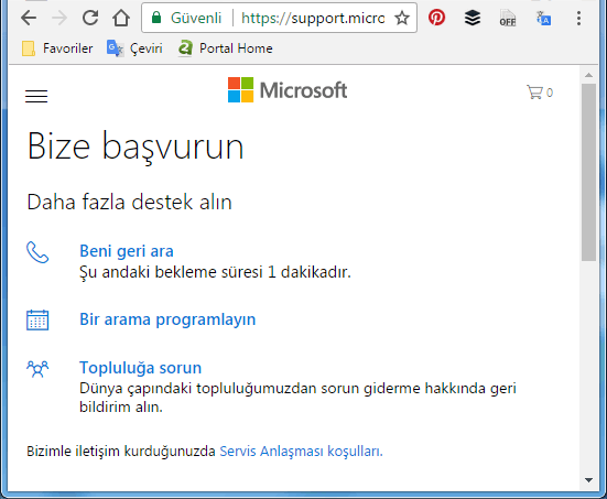 Microsoft ile chat