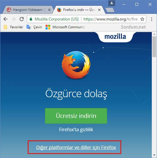 Firefox 64 bit nasıl indirilir