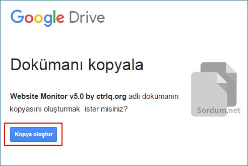 Google drive a scripti kopyala