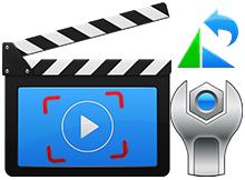 Ters çekilmiş video kaydını kalıcı olarak düzeltmek
