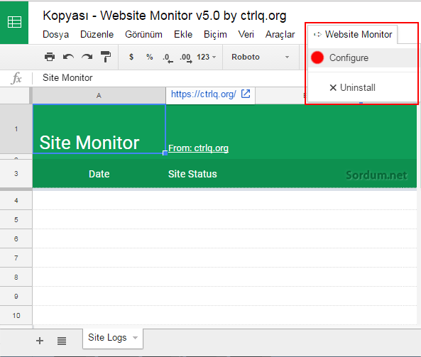 Website Monitor script
