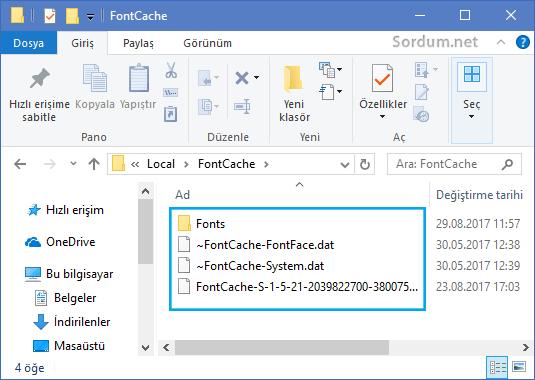 Font cache