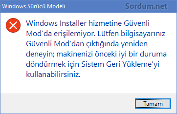 Windows Installer hatası